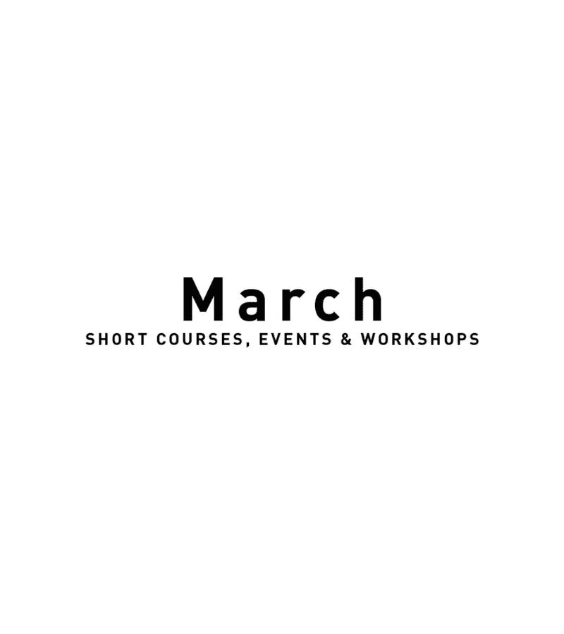 March Courses & Events 2020